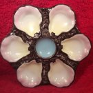 Antique Numbered Limoges or German Porcelain 6 Well Oyster Plate c1800's, op257