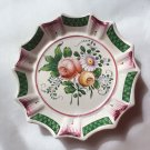 Antique French Faience de l'Est Bouquet Butter Pat c1800's, ff377