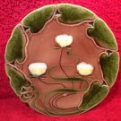 Antique Art Nouveau Majolica Water Lily Plate V&B, gm586