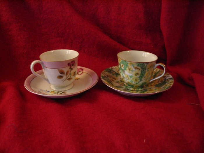 Two Vintage Tea Cups and Saucers Made in Occupied Japan Merit cuppatea.ecrater.com