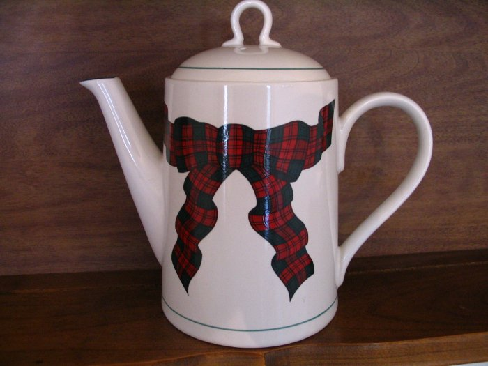 Sasaki Tartan Plaid Coffee Server cuppatea.ecrater.com