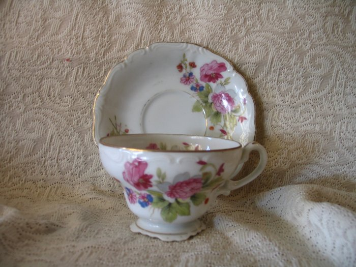 Tea Cup and Saucer Made in Occupied Japan cuppatea.ecrater.com