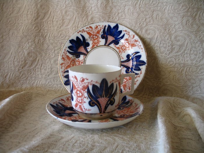 Vintage Hand Painted Flowers Tea Cup Saucer and Plate cuppatea.ecrater.com
