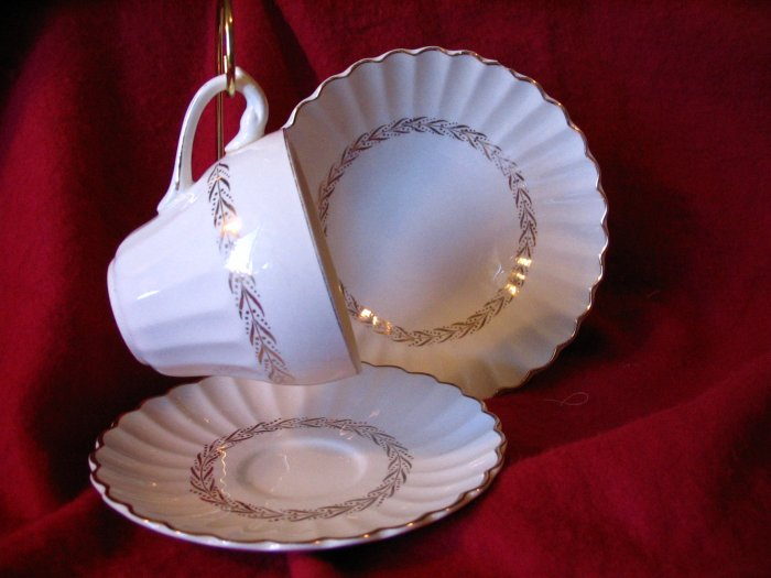 Tea Cup Saucer and Bowl J & G Meakin England cuppatea.ecrater.com