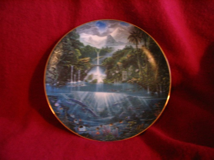 Sanctuary of the Dolphin Plate Limited Edition Hamilton Collection cuppatea.ecrater.com