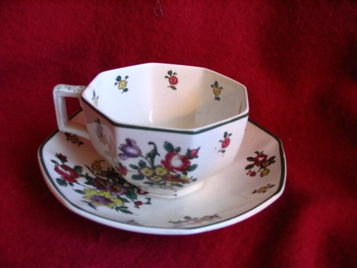 Royal Doulton Tea Cup Teacup and Saucer Old Leeds Spray  England cuppatea.ecrater.com