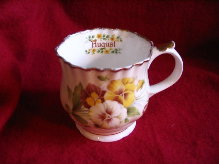 August Tea Cup Staffordshire Bone China Made in England cuppatea.ecrater.com