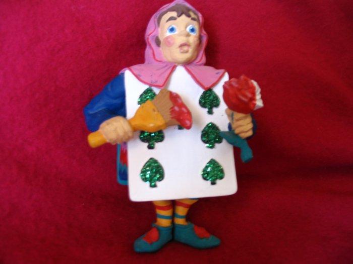 Seven of Spades Ornament Dept 56 Alice in Wonderland from cuppatea.ecrater.com