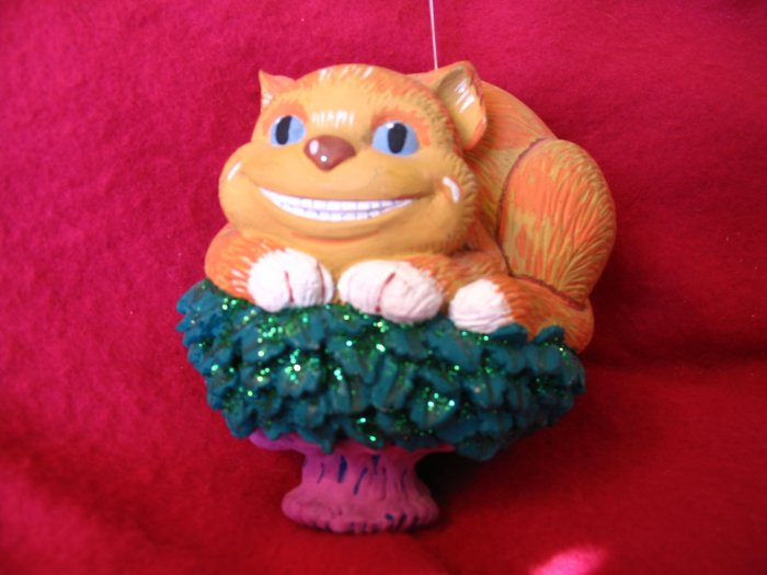 Cheshire Cat Ornament Dept 56 Alice in Wonderland cuppatea.ecrater.com