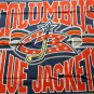 Columbus Blue Jackets team logo fleece throw blanket 44x 53