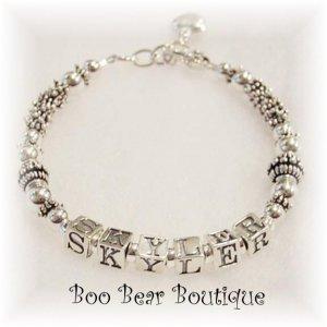 Sterling silver mothers bracelet