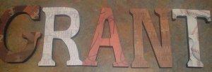 Custom wood letters