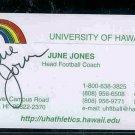June Jones TOPPS Football 1979 + 1980 + Autograph