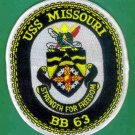 USS Missouri Patch - BB63