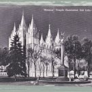 1 - Mormon Temple Salt Lake City Utah  - Vintage Postcard