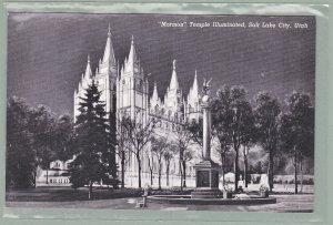 1 - Mormon Temple Salt Lake City Utah  - Vintage Postcard