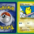 4 - Pokemon Cards - Surfing Pikachu - 1998