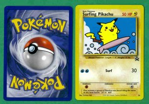 4 - Pokemon Cards - Surfing Pikachu - 1998