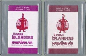 Hawaii Islanders Baseball Schedules - 1979 and 1980 - Hawaiian Air