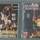 University Of Hawaii Basketball Schedule Cards - 82/83 + 83/84
