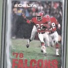 1978 - Atlanta Falcons Schedule Card - Delta Airlines