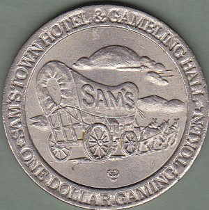 1994 - $1 Sam's Town Vegas Slot Token - Covered Wagon
