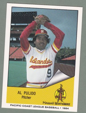 1984 Hawaii Islanders Al Pulido Vera Cruz Mexico