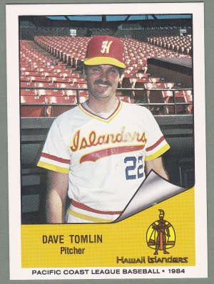 1984 Hawaii Islanders Dave Tomlin - Manchester OH
