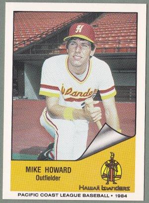 1984 Hawaii Islanders Mike Howard - Seattle WA