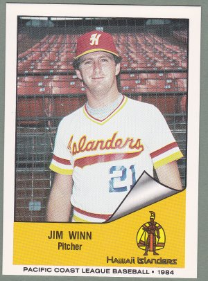 1984 Hawaii Islanders Jim Winn - Clever MO