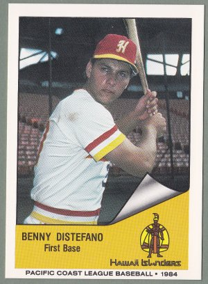 1984 Hawaii Islanders Benny Distefano - Brooklyn NY