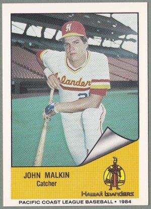 1984 Hawaii Islanders John Malkin - New York