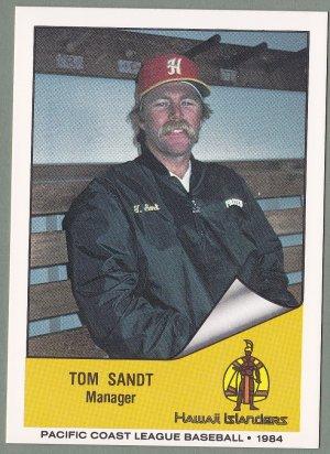 1984 Hawaii Islanders Tom Sandt - Portland Oregon