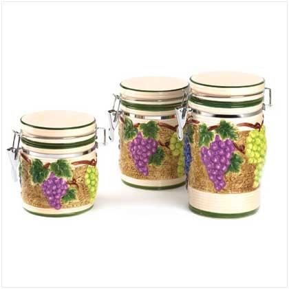 Grape Arbor canister set