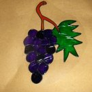 Grapes Faux Stained Window Cling