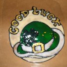 St Patty's Day Good Luck Faux Stained Window Cling