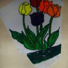 Tulips  Faux Stained Window Cling