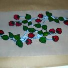 2 Stawberry Vines  Faux Stained Window Cling