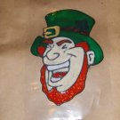 Leprechaun  Faux Stained Window Cling