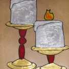 Candles  Faux Stained Window Cling