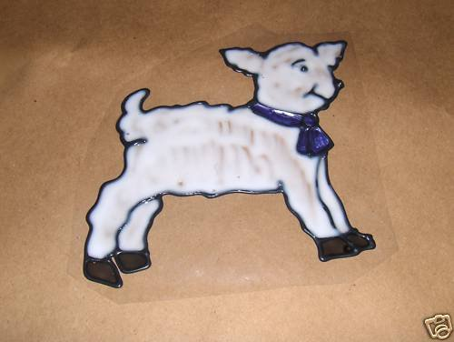 Lamb Faux Stained Window Cling