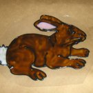 Brown  Bunny Faux Stained Window Cling