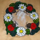 Lady Bugs & Daisy  Faux Stained Window Cling