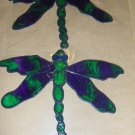 Dragonflies  Faux Stained Window Cling