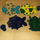 Bubble Fish Faux Stained Window Cling