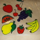 Assortment Of Fruit  Faux Stained Window Cling