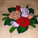 Bouquet Of Roses   Faux Stained Window Cling
