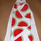 Watermelon   Hanging Kitchen Crochet Top Dish Towel