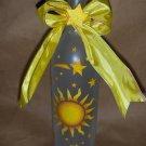 Sun & Stars Lighted Wine Bottle