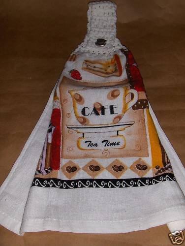 Tea Time Crochet Top Dish Towel